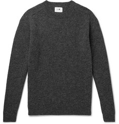NN07 Mélange Brushed-Wool Sweater