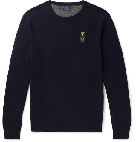 Polo Ralph Lauren Slim-Fit Logo-Embroidered Merino Wool Sweater