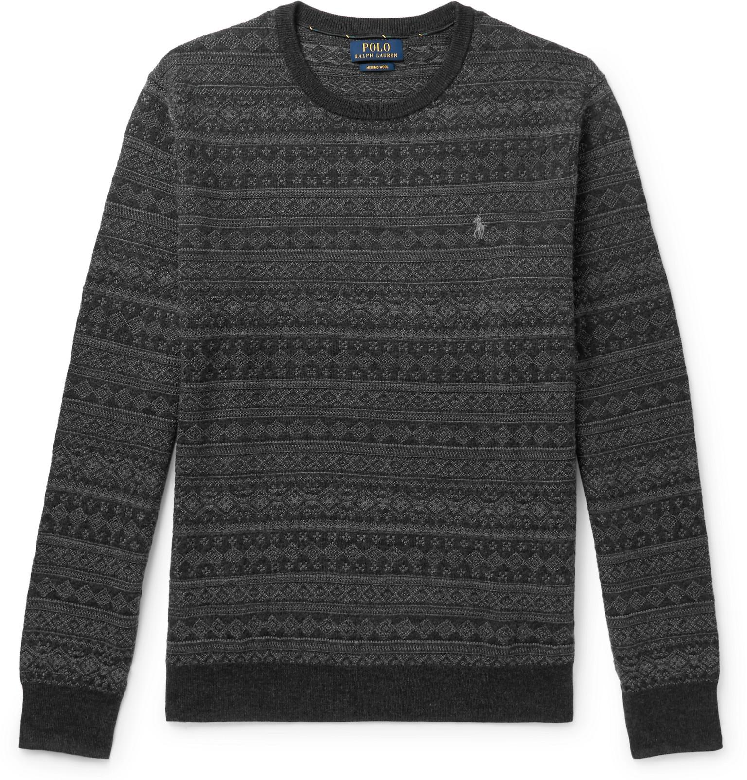 Fit Merino Sweater Polo Ralph Wool Fair Slim Lauren Isle TJl1cFK