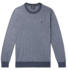 Polo Ralph Lauren Contrast-Tipped Mélange Cotton Sweater