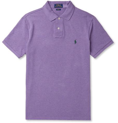 Cotton Fit Shirt Piqué Ralph Lauren Slim Polo H2IWDYE9