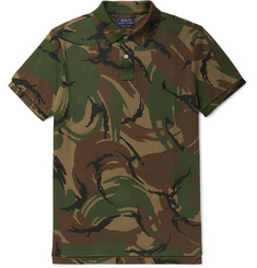 Polo Ralph Lauren Slim-Fit Camouflage-Print Cotton-Piqué Polo Shirt