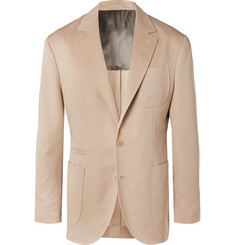 Brunello Cucinelli - Beige Wool and Cotton-Blend Suit Jacket