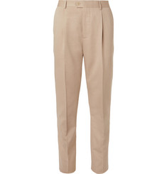 Brunello Cucinelli - Beige Slim-Fit Wool and Cotton-Blend Suit Trousers