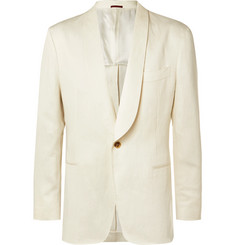Brunello Cucinelli - Cream Unstructured Linen Suit Jacket