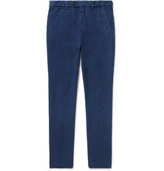 Brunello Cucinelli - Navy Tapered Linen and Cotton-Blend Trousers