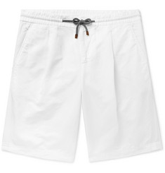 Brunello Cucinelli Linen and Cotton-Blend Drawstring Shorts