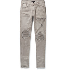 AMIRI MX2 Skinny-Fit Panelled Distressed Denim Jeans