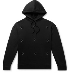 Raf Simons Embellished Fleece-Back Cotton-Jersey Hoodie