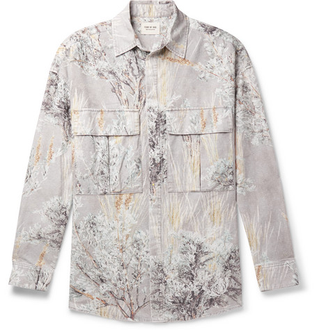 Fear of God Oversized Printed Brushed-Cotton Shirt