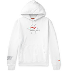 Heron Preston + NASA Printed Fleece-Back Cotton-Jersey Hoodie
