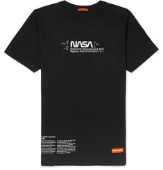 Heron Preston + NASA Logo-Print Cotton-Jersey T-Shirt