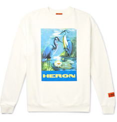 Heron Preston Printed Fleece-Back Cotton-Jersey Sweatshirt