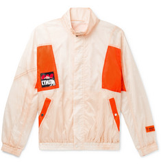 Heron Preston Logo-Detailed Panelled Ripstop Jacket