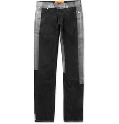 Heron Preston Slim-Fit Logo-Detailed Taped Denim Jeans
