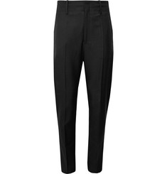 Isabel Marant Black Lisato Slim-Fit Tapered Wool Trousers