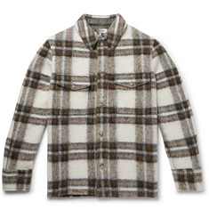 Isabel Marant Gervon Checked Wool-Blend Shirt Jacket