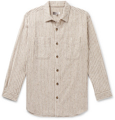 Isabel Marant Paulieh Striped Cotton-Blend Tweed Shirt