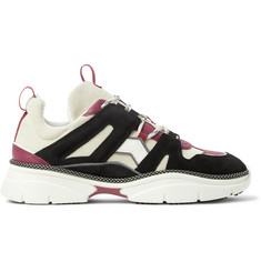 Isabel Marant Kindsay Leather-Trimmed Suede and Canvas Sneakers