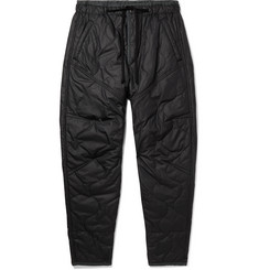 Isabel Marant Black Gao Tapered Quilted Satin-Shell Trousers