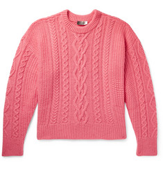 Isabel Marant Tayler Cable-Knit Wool Sweater