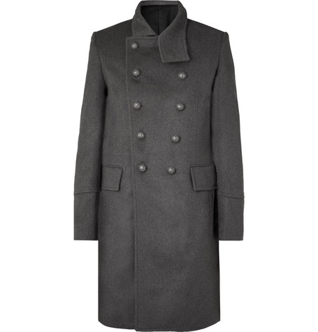 slim-fit-double-breasted-wool-and-cashmere-blend-coat by balmain