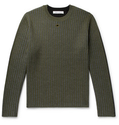 Craig Green Colour-Block Ribbed Wool Sweater