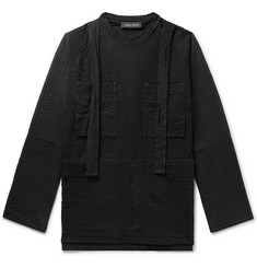 Craig Green Oversized Strap-Detailed Textured Cotton-Jersey Sweatshirt