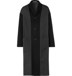 Valentino Oversized Shell-Panelled Virgin Wool and Cashmere-Blend Coat