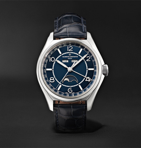 Vacheron Constantin Fiftysix Automatic Complete Calendar 40mm Stainless Steel and Alligator Watch, Ref. No. 4000E/000A-B