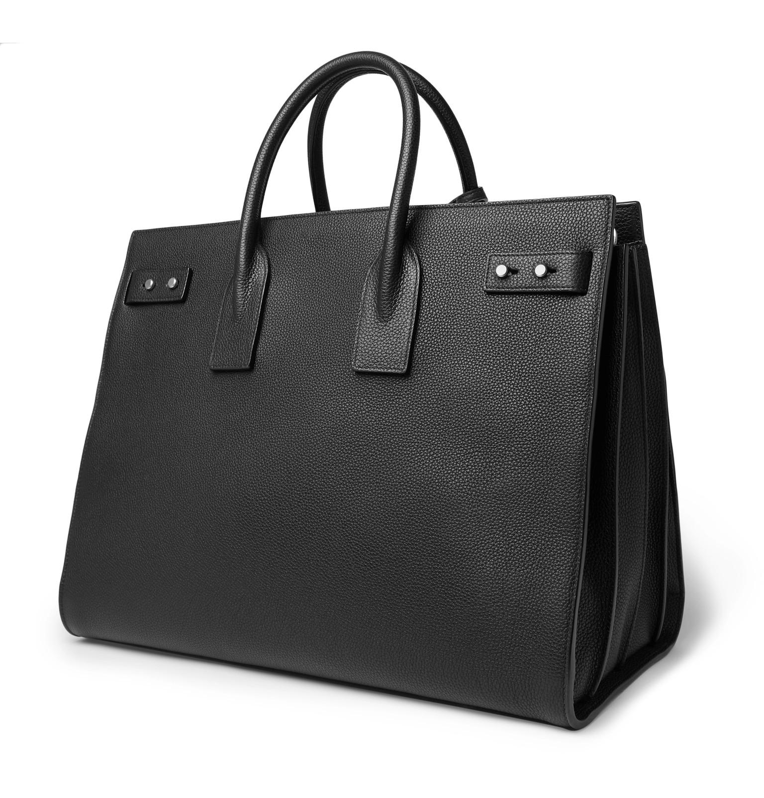 2979e5d3734 SAINT LAURENT - Sac De Jour Large Full-Grain Leather Tote Bag