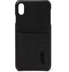 Saint Laurent Logo-Detailed Leather iPhone XS Max Case