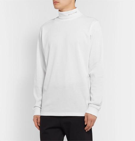 logo-print-cotton-blend-jersey-rollneck-t-shirt by 1017-alyx-9sm