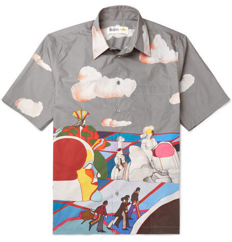 Stella McCartney + The Beatles Riccardo Printed Cotton-Poplin Shirt