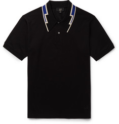 Dunhill Slim-Fit Contrast-Tipped Cotton-Piqué Polo Shirt