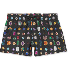 Versace Slim-Fit Short-Length Printed Shell Swim Shorts