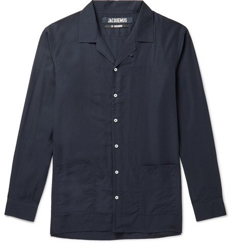Jacquemus Etienne Camp-Collar Lyocell Shirt