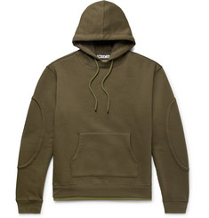 Jacquemus Layered Fleece-Back Cotton-Blend Jersey Hoodie