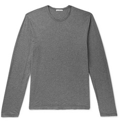 James Perse Mélange Cotton and Cashmere-Blend Jersey T-Shirt