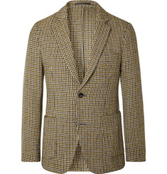 Officine Generale - Brown Slim-Fit Unstructured Houndstooth Wool-Blend Blazer