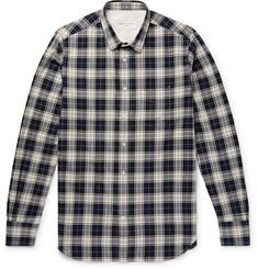Officine Generale Checked Herringbone Cotton Shirt
