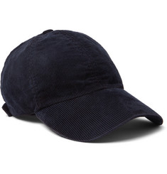Officine Generale Garment-Dyed Cotton-Blend Corduroy Baseball Cap