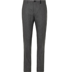 PS Paul Smith Grey Slim-Fit Mélange Wool-Flannel Suit Trousers