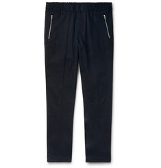 PS Paul Smith Navy Slim-Fit Wool-Blend Trousers