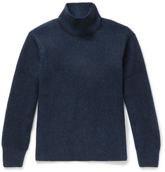 Maison Kitsuné Ribbed Mélange Lambswool Rollneck Sweater