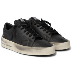 Golden Goose Stardan Distressed Leather Sneakers