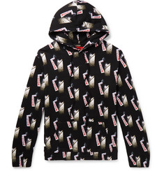424 Printed Fleece-Back Cotton-Jersey Hoodie