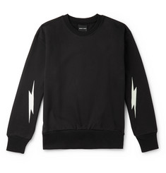 Resort Corps Glow-in-the-Dark Printed Loopback Cotton-Jersey Sweatshirt