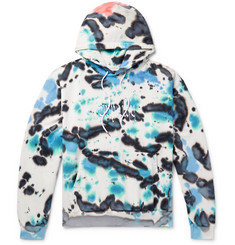 Resort Corps Embroidered Tie-Dyed Loopback Cotton-Jersey Hoodie