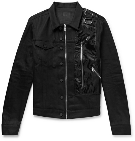 RtA 137 Shell and Webbing-Trimmed Stretch-Denim Jacket